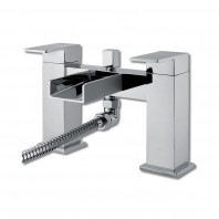 Synergy Tec Studio Waterfall Bath Shower Mixer Tap 2 Two Hole Deck Mounted