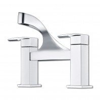 Synergy Tec Studio Designer Bath Filler Mixer Tap 2 Two Hole Deck Mounted