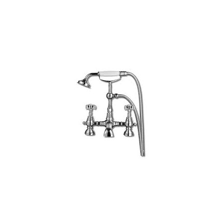 Synergy Tec Studio WG Bath Shower Mixer Tap Deck Mounted With Shower Kit