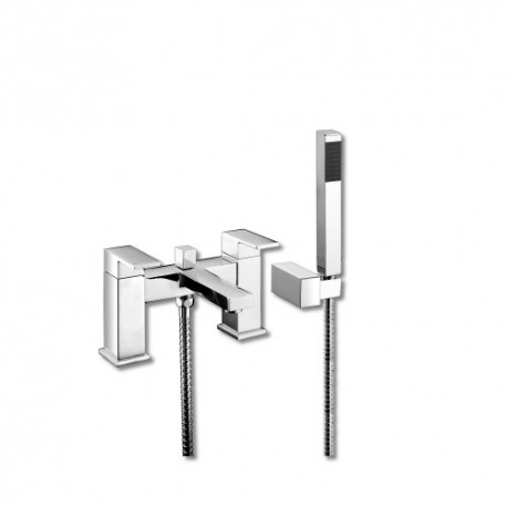 Synergy Tec Studio EB Bath Shower Mixer Tap 2 Two Hole With Shower Kit
