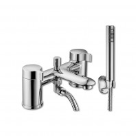 Synergy Tec Studio L Bath Filler Mixer Tap Deck Mounted 2 Two Hole With Shower Kit