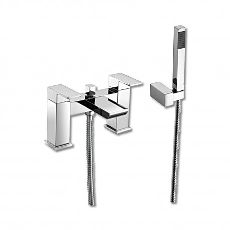 Synergy Tec Studio QB Bath Shower Mixer Tap 2 Two Hole With Shower Kit