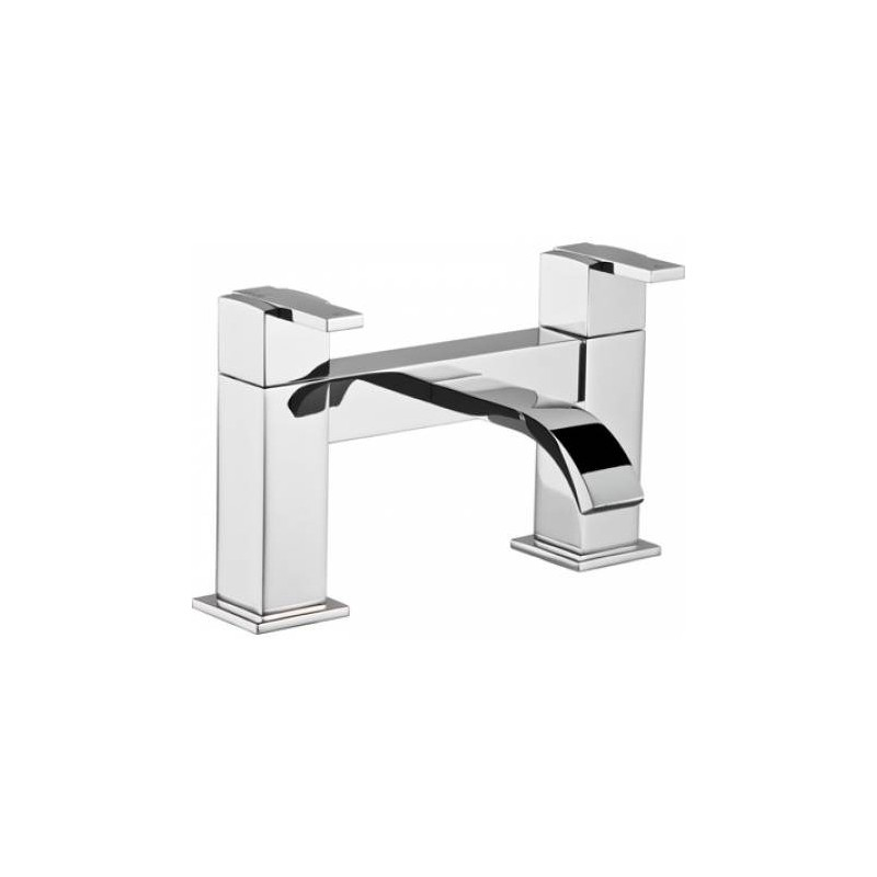 Abode Iso Deck Mounted Bath Filler Mixer Tap 2 Two Hole