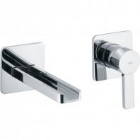 Abode Modo Waterfall Concealed Wall Mounted 2 Hole Bath Mixer Tap