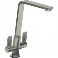 Abode Linear Flair Basin Mixer Tap Brushed Nickel