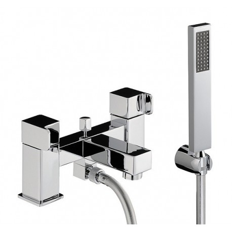 Abode Rapport Deck Mounted Bath Shower Mixer Tap With Shower Kit