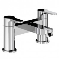 Abode Debut Deck Mounted Bath Filler Mixer Tap 2 Two Hole