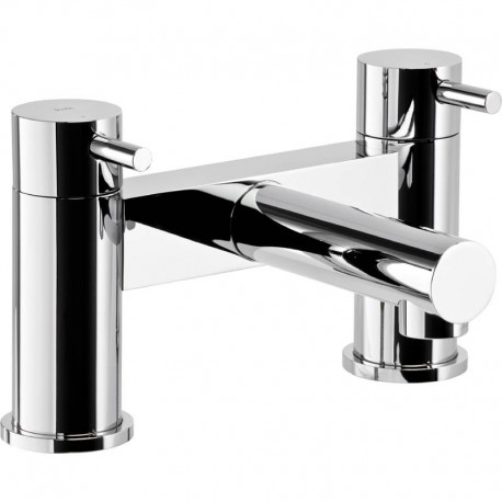 Abode Tanto Deck Mounted Bath Filler Mixer Tap 2 Two Hole
