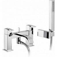 Abode Iso Deck Mounted Bath Shower Mixer Tap With Shower Kit