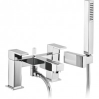 Abode Cento Deck Mounted Bath Shower Mixer Tap With Shower Kit