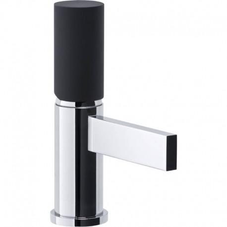 Abode Cyclo Mini Basin Mixer Tap Single Lever Black/Chrome
