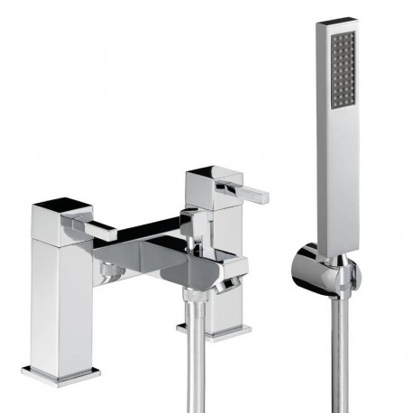 Abode Zeal Deck Mounted Bath Shower Mixer Tap With Shower Kit