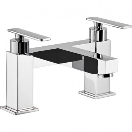 Abode Marino Deck Mounted Bath Filler Mixer Tap 2 Two Hole
