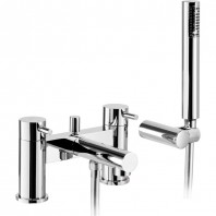 Abode Tanto Deck Mounted Bath Shower Mixer Tap With Shower Kit