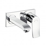 Hansgrohe etris Single lever basin mixer for concealed installation with short spout 165mm
