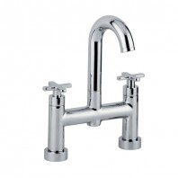Abode Serenitie Deck Mounted Bath Filler Mixer Tap 2 Two Hole