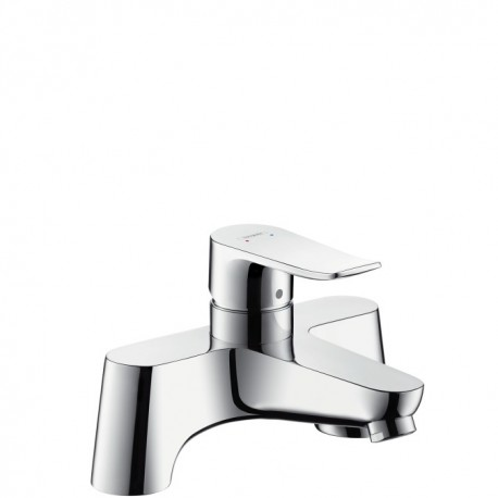 Hansgrohe Metris Single lever low pressure deck mounted bath filler, rim-mounted