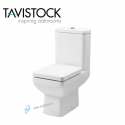 Tavistock Q60 Square Compact Close Coupled Toilet Wc 600mm With Soft Close Seat