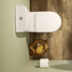 TAVISTOCK MICRA ROUND COMPACT CLOSE COUPLED TOILET WC 600mm WITH SOFT CLOSE SEAT