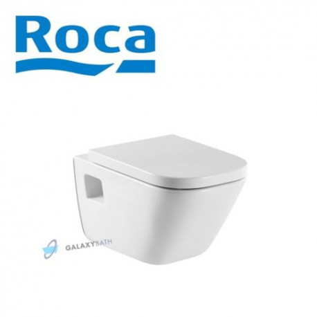 ROCA GAP SET WALL HUNG WC TOILET PAN WITH SOFT CLOSE SEAT HORIZONTAL OUTLET