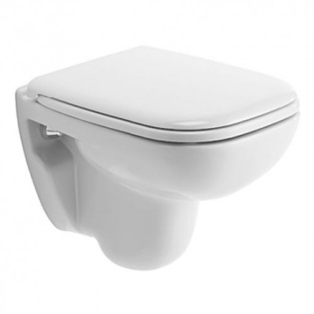DURAVIT D-CODE SET WHITE 48CM WALL HUNG WC TOILET PAN WITH SOFT CLOSE SEAT