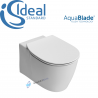 IDEAL STANDARD CONCEPT AQUABLADE WALL HUNG WC TOILET PAN WITH SOFT CLOSE SEAT