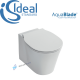 IDEAL STANDARD CONCEPT AIR AQUABLADE WALL HUNG WC TOILET PAN + SOFT CLOSE SEAT