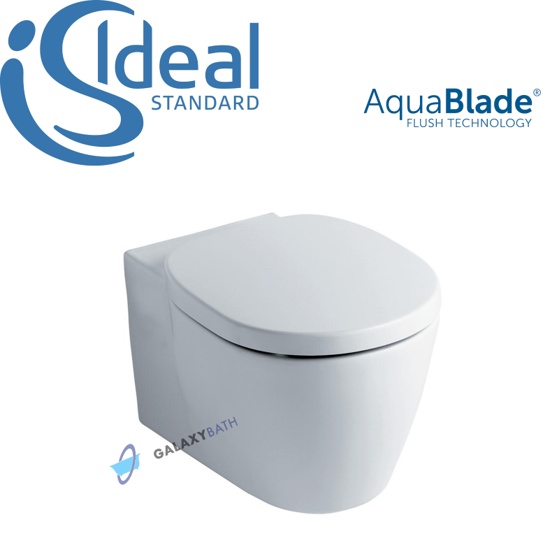 ideal standard concept aquablade wall hung wc toilet pan with soft. Black Bedroom Furniture Sets. Home Design Ideas