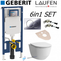 GEBERIT UP720 SIGMA WC CONCEALED FRAME+ LAUFEN PRO TOILET PAN WITH SLIM SOFT CLOSE SEAT