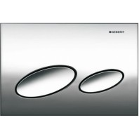 Geberit KAPPA20 Dual Flush Plate For UP200 150mm Kappa Cistern Matt Chrome