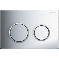 Geberit OMEGA20 Dual Flush Plate For 120mm Omega 12 Cistern Gloss Matt Chrome