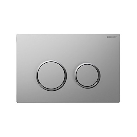 Geberit OMEGA20 Dual Flush Plate For 120mm Omega 12 Cistern Matt Gloss Chrome