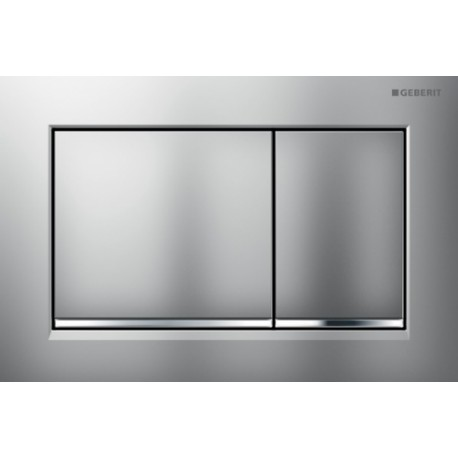 Geberit OMEGA30 Dual Flush Plate For 120mm Omega 12 Cistern Matt Gloss Chrome
