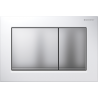 Geberit OMEGA30 Dual Flush Plate For 120mm Omega 12 Cistern White Matt Chrome