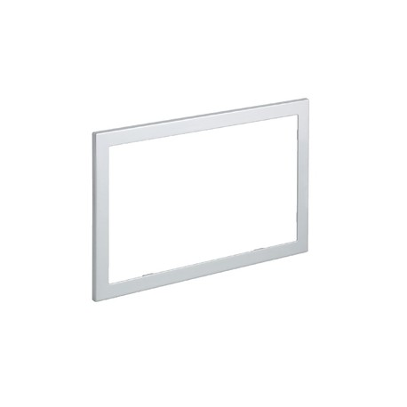 Geberit OMEGA60 Flush Plate Frame to Cover Unfinished Tile Edges, Brushed Chrome