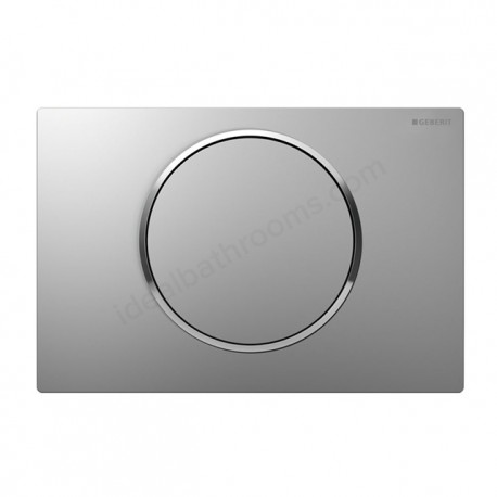 Geberit SIGMA10 Dual Flush Plate For Sigma UP320 Touchless Operation Battery Powered Gloss Matt Gloss Chrome