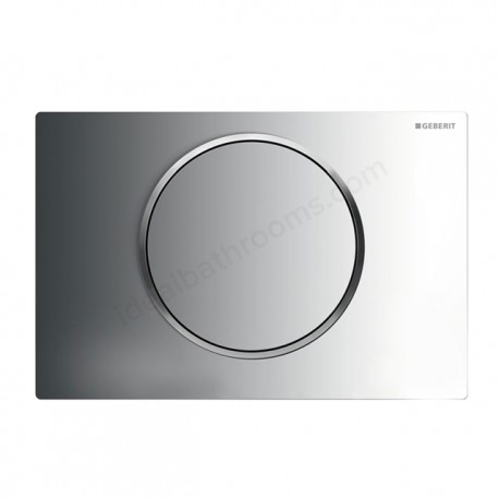 Geberit SIGMA10 Dual Flush Plate For Sigma UP320 Touchless Operation Battery Powered Matt Gloss Matt Chrome