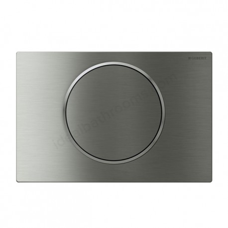 Geberit SIGMA10 Dual Flush Plate for Sigma UP320 Touchless Manual Operation Battery Powered Brushed Polished Brushed