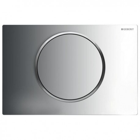 Geberit SIGMA10 Single Flush Plate for 80mm and 120mm Sigma Cisterns Gloss Matt Chrome