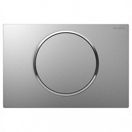 Geberit SIGMA10 Single Flush Plate for 80mm and 120mm Sigma Cisterns Matt Gloss Chrome
