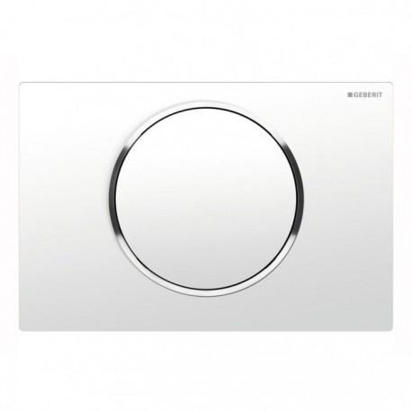 Geberit SIGMA10 Single Flush Plate for 80mm and 120mm Sigma Cisterns White Gloss Chrome