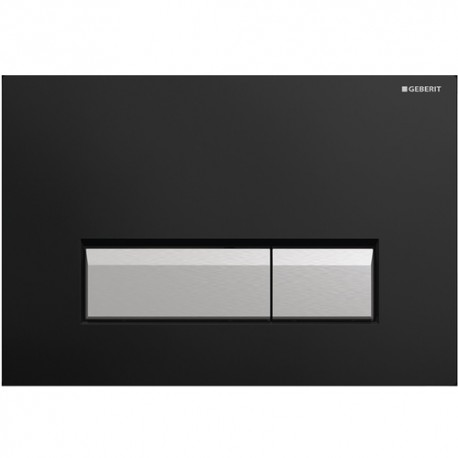 Geberit SIGMA40 Dual Flush Plate, Integrated Odour Extraction, for 80mm and 120mm Sigma Cisterns, Black