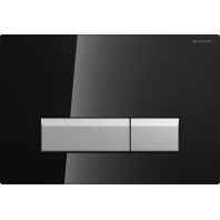 Geberit SIGMA40 Dual Flush Plate Integrated Odour Extraction for 80mm and 120mm Sigma Cisterns Black Gloss