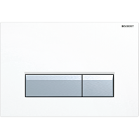 Geberit SIGMA40 Dual Flush Plate Integrated Odour Extraction for 80mm and 120mm Sigma Cisterns White