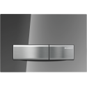 Geberit SIGMA50 Dual Flush Plate for 80mm and 120mm Sigma Cisterns Reflective Smoked Glass