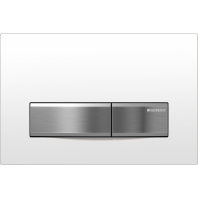Geberit SIGMA50 Dual Flush Plate for 80mm and 120mm Sigma Cisterns White