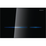 Geberit SIGMA80 Dual Flush Plate for Sigma UP320 Touchless Operation Mains Powered Black Glass