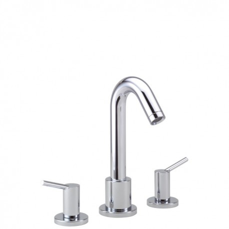 Hansgrohe Talis 3-hole bath mixer with lever handles, escutcheons and long spout