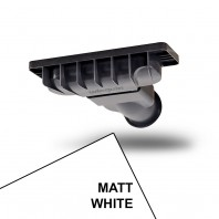 Just Trays Evoled Shower Waste Matt White