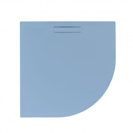 Just Trays Evolved Quadrant Shower Tray 800x800mm Pastel Blue